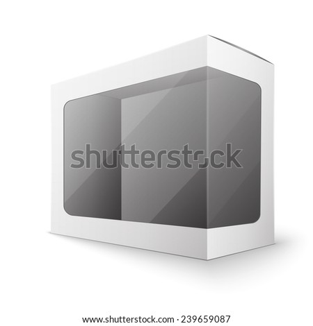 White package box, excellent vector illustration, EPS - stock vector
