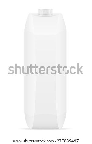 white package with juice vector illustration isolated on background - stock vector