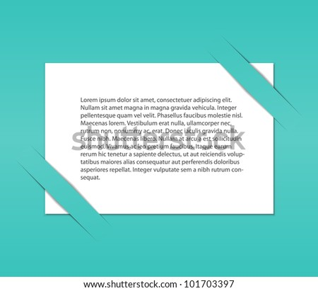 White paper in a cutting background.Easy editable.Vector - stock vector