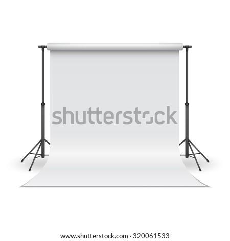 White paper studio backdrop. Vector illustration. - stock vector