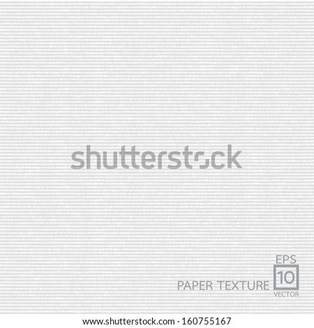 White Paper texture background - stock vector