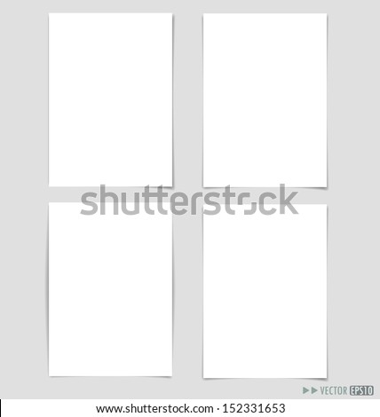 White papers, ready for your message. Vector illustration. - stock vector