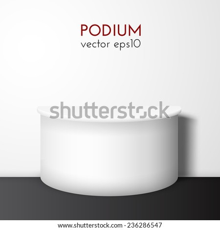 White pedestal vector background. Vector eps10. Can be used for product presentation. - stock vector