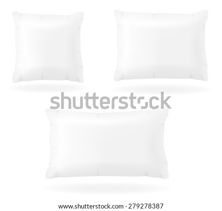 white pillow to sleep vector illustration isolated on background - stock vector