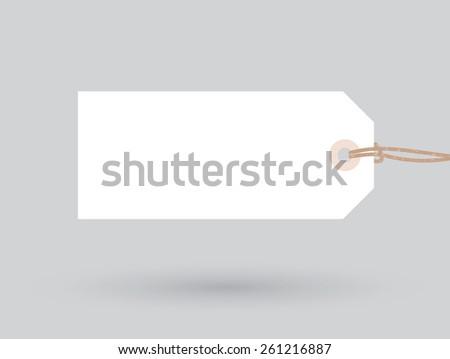 white plain sign - stock vector