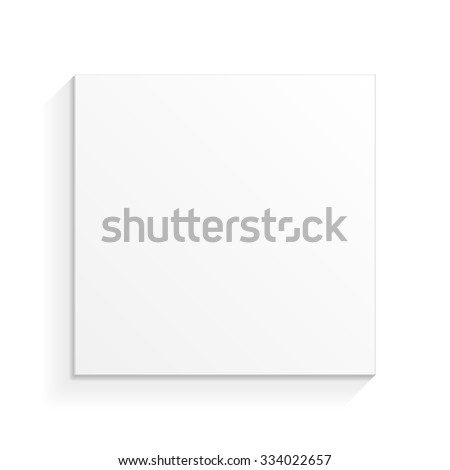 White Product Cardboard Package Box. Top View. Illustration Isolated On White Background. Mock Up Template Ready For Your Design. Vector EPS10 - stock vector