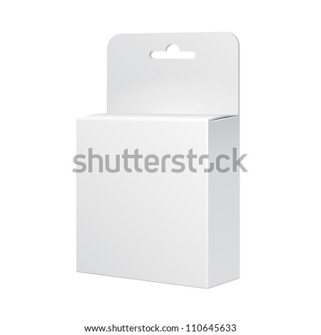 White Product Package Box Illustration Isolated On White Background. Vector EPS10 - stock vector