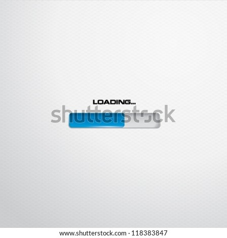 White progress or loading bar - stock vector