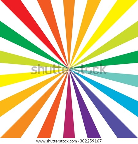 White rays on rainbow background. Colorful. Vector. Background. Illustration. EPS10 - stock vector