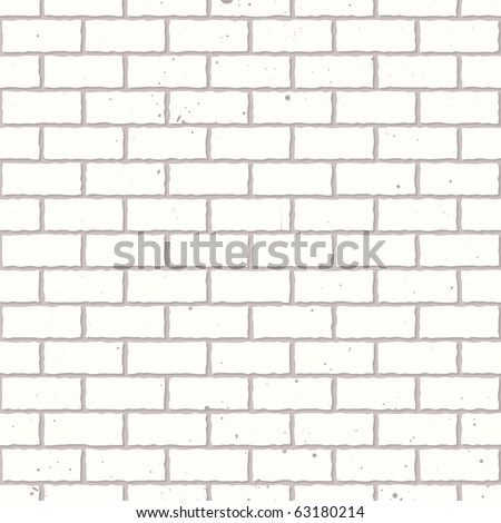 White seamless brickwall with repeating pattern design grunge - stock vector