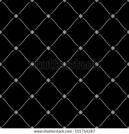 White seamless pattern with ship wheel symbol on black, 10eps. - stock vector