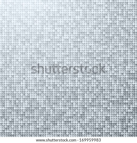 White seamless shimmer background with shiny silver and black paillettes. Sparkle glitter background. Glittering sequins wall. - stock vector