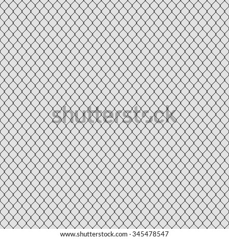 white seamless texture. structure of the black mesh fence. vector background - stock vector