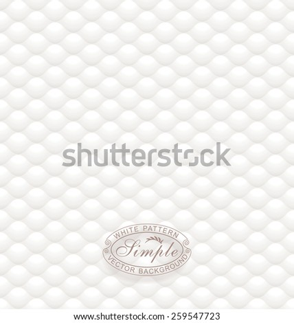 White seamless textured wallpaper background.  - stock vector