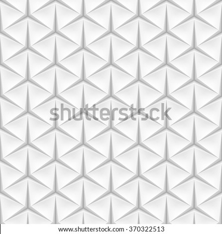 White seamless triangular background. Vector background made with gradient mesh. - stock vector