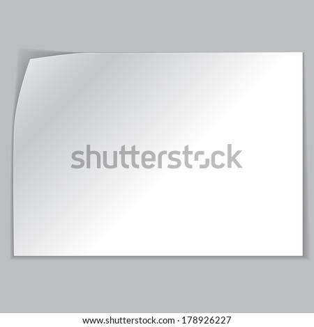 white sheets of paper on a gray background. eps10 - stock vector