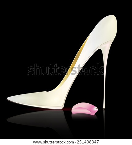white shoe - stock vector