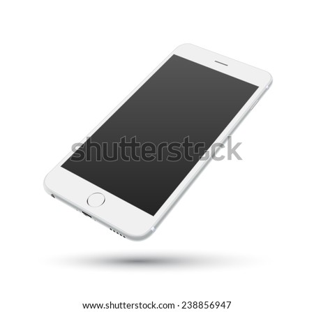 White smartphone vector mockups. Can use for printing, website, presentation element. for app demo on phone. - stock vector