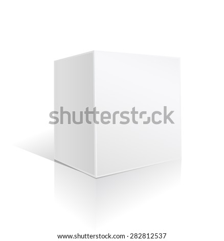 white square big box on white  - stock vector