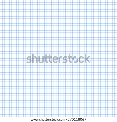 White squared graph paper seamless sheet texture, vector background - stock vector