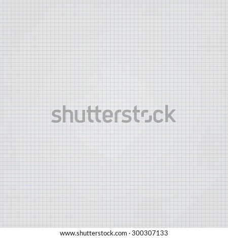 White squared paper seamless sheet texture, background - stock vector