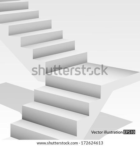 White stair. - stock vector