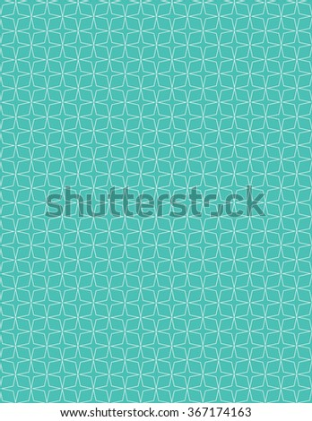 White star pattern over green color background - stock vector