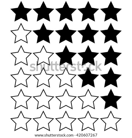white stars of rating on black stars - stock vector