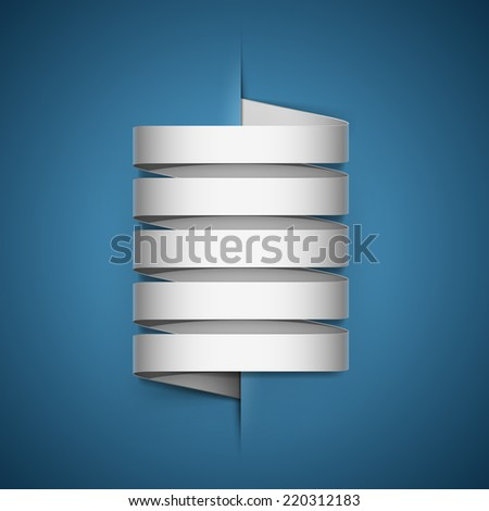 White stickers sticking out of the divider on paper background. - stock vector