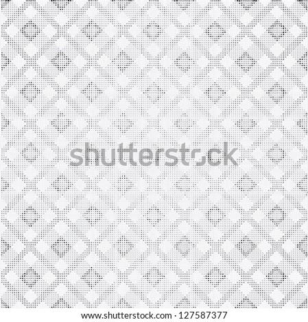 White tiles texture, seamless vector checkered picnic tablecloth. Fabric background. - stock vector