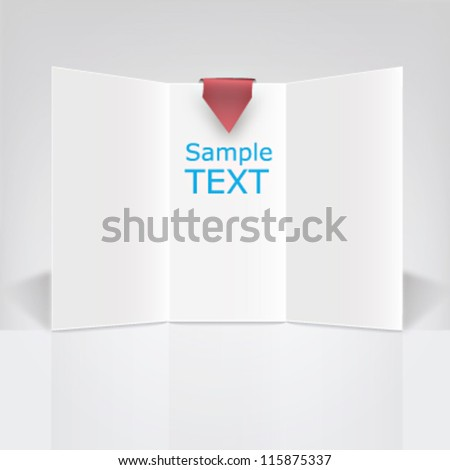 White triptych vector ready to use in a commercial campaign - stock vector