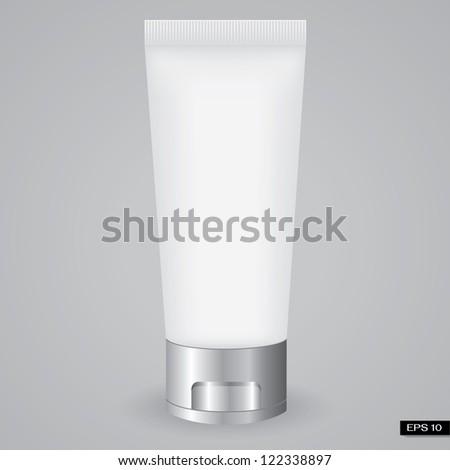 White Tube Of Foam - stock vector