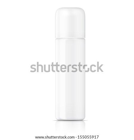 White tubular bottle template. - stock vector