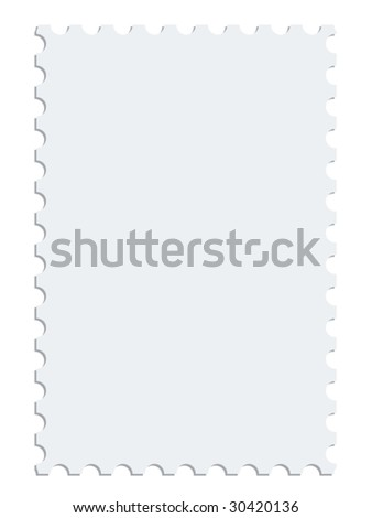 White vector postage stamp - stock vector