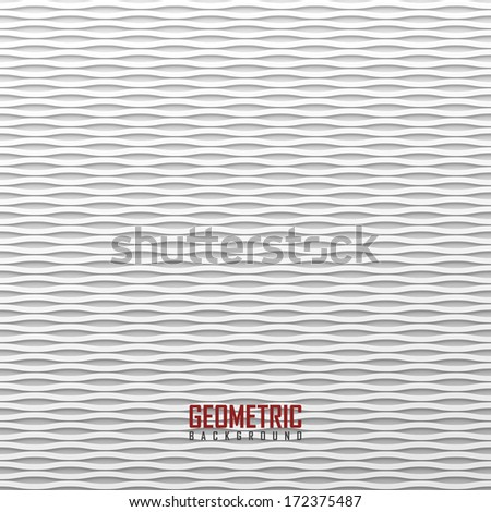 White wavy background - stock vector