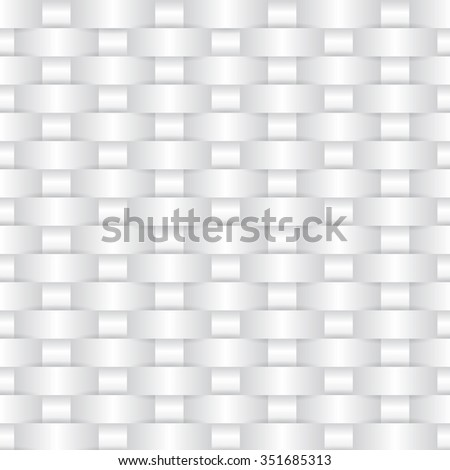 White weave background - seamless - stock vector