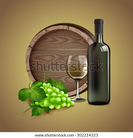 WHITE WINE BANNER QUALITY - stock vector