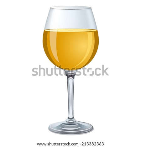 white wine glass  - stock vector