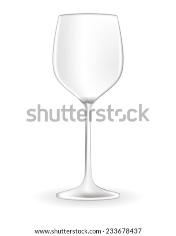 White wine glass - vector drawing - stock vector