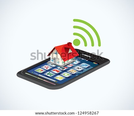 wi-fi and wireless icon. - stock vector