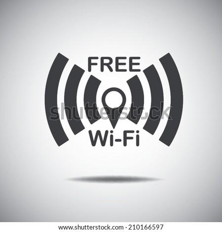 Wi-Fi free network icon  - stock vector