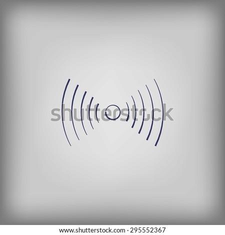 Wi-Fi network Icon  - stock vector