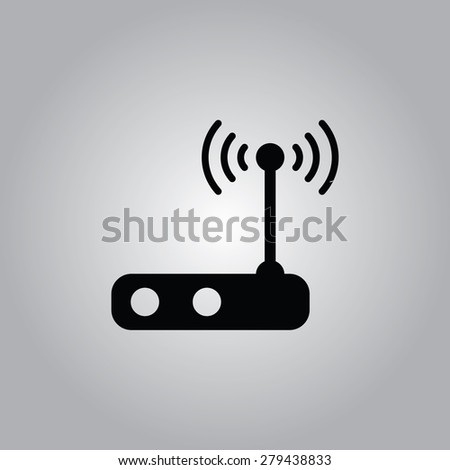 Wi-Fi Router Icon. - stock vector