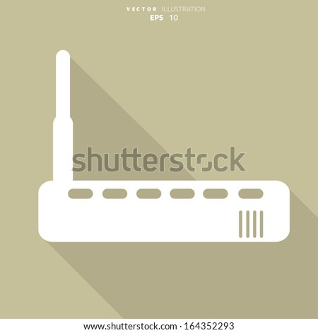 Wi fi router web icon - stock vector