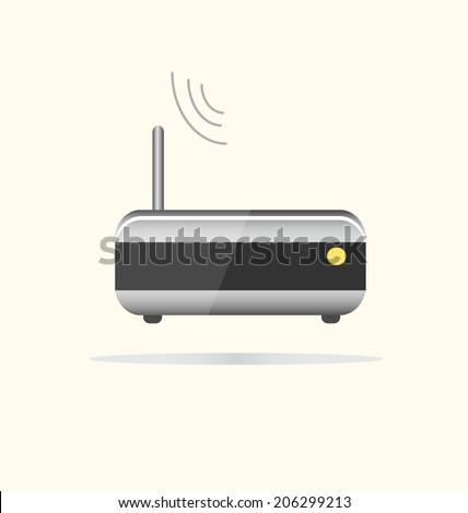 Wi Fi router web icon. Vector illustration. - stock vector