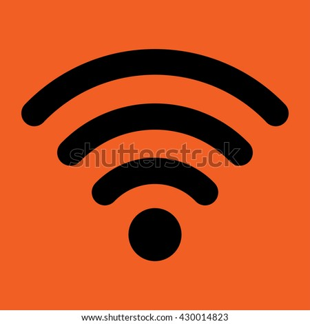 wi fi web internet mobile connection icon simple - stock vector