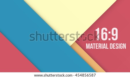 Wide Background Unusual modern material design. Modern shades and style. Abstract Vector Illustration. - stock vector