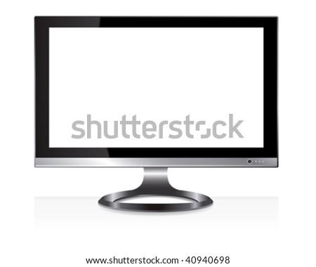 wide screen monitor - stock vector