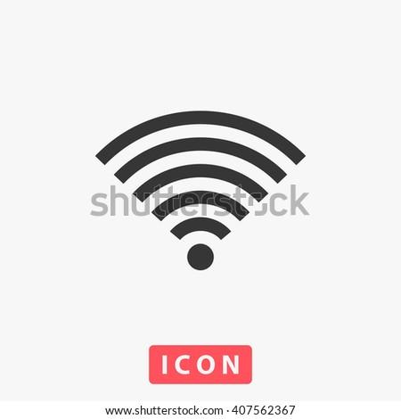 wifi Icon, wifi Icon Vector, wifi Icon Art, wifi Icon eps, wifi Icon Image, wifi Icon logo, wifi Icon Sign, wifi icon Flat, wifi Icon design, wifi icon app, wifi icon UI, wifi icon web, wifi icon gray - stock vector