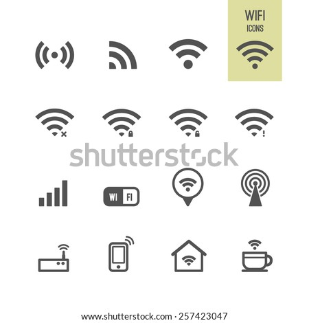 Wifi icons. Vector illustration. - stock vector